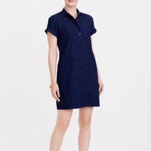 Navy polka dot cord dress NWOT
